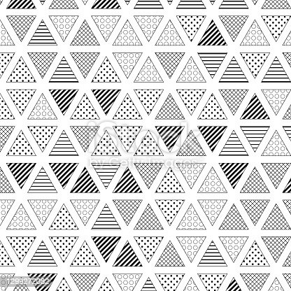 Triangles pattern on white, with some space
