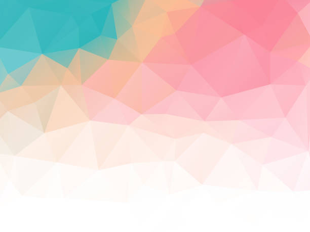 triangular abstract background pastel colored vector art illustration