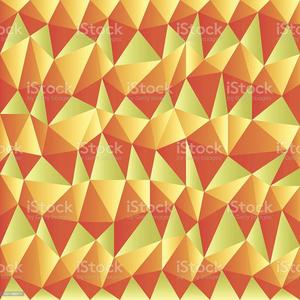 triangular autumn background vector art illustration