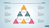 Triangular diagram. Progress chart. Element of presentation. Concept for infographic, business templates, report. Can be used for topics like business,  organization