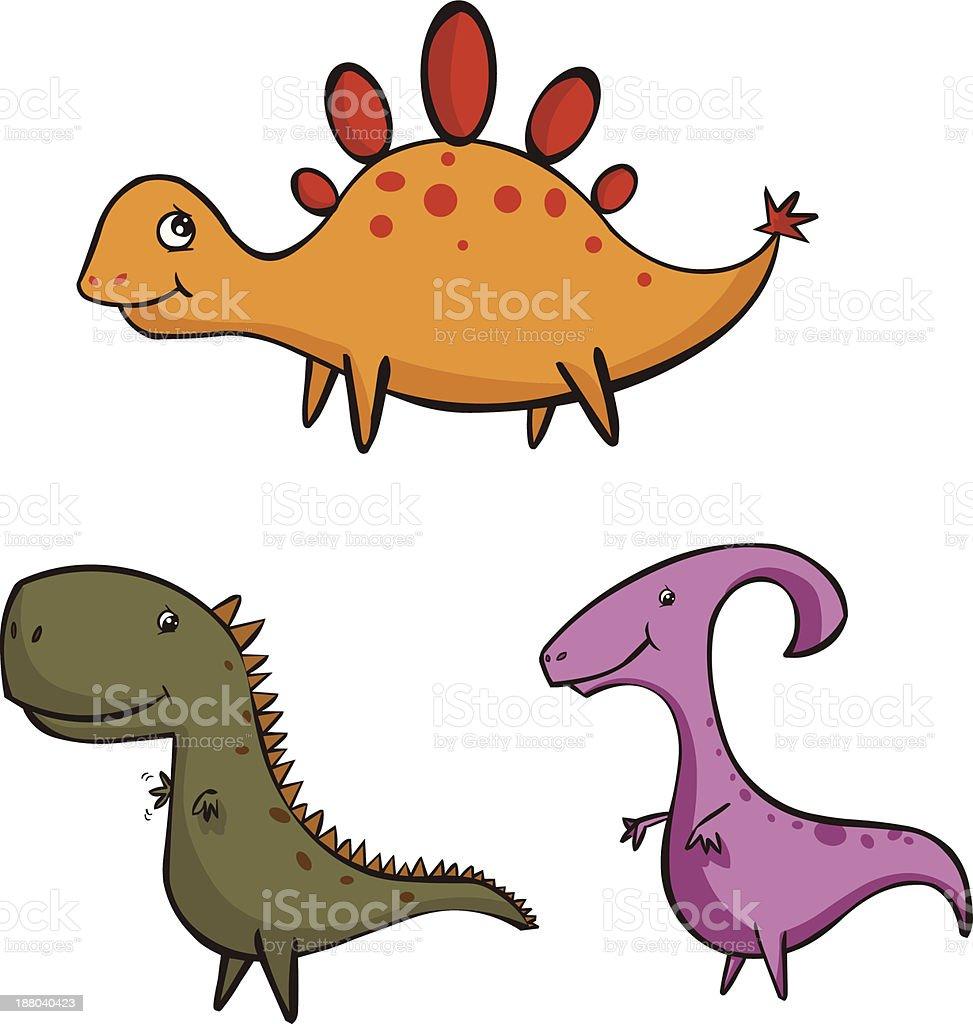 Triangular Dinosaurs royalty-free stock vector art
