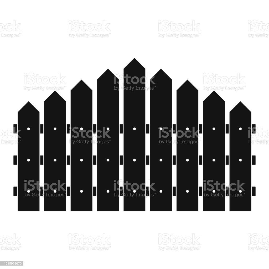 Dreieckige Zaun Symbol Einfachen Stil Stock Vektor Art Und Mehr