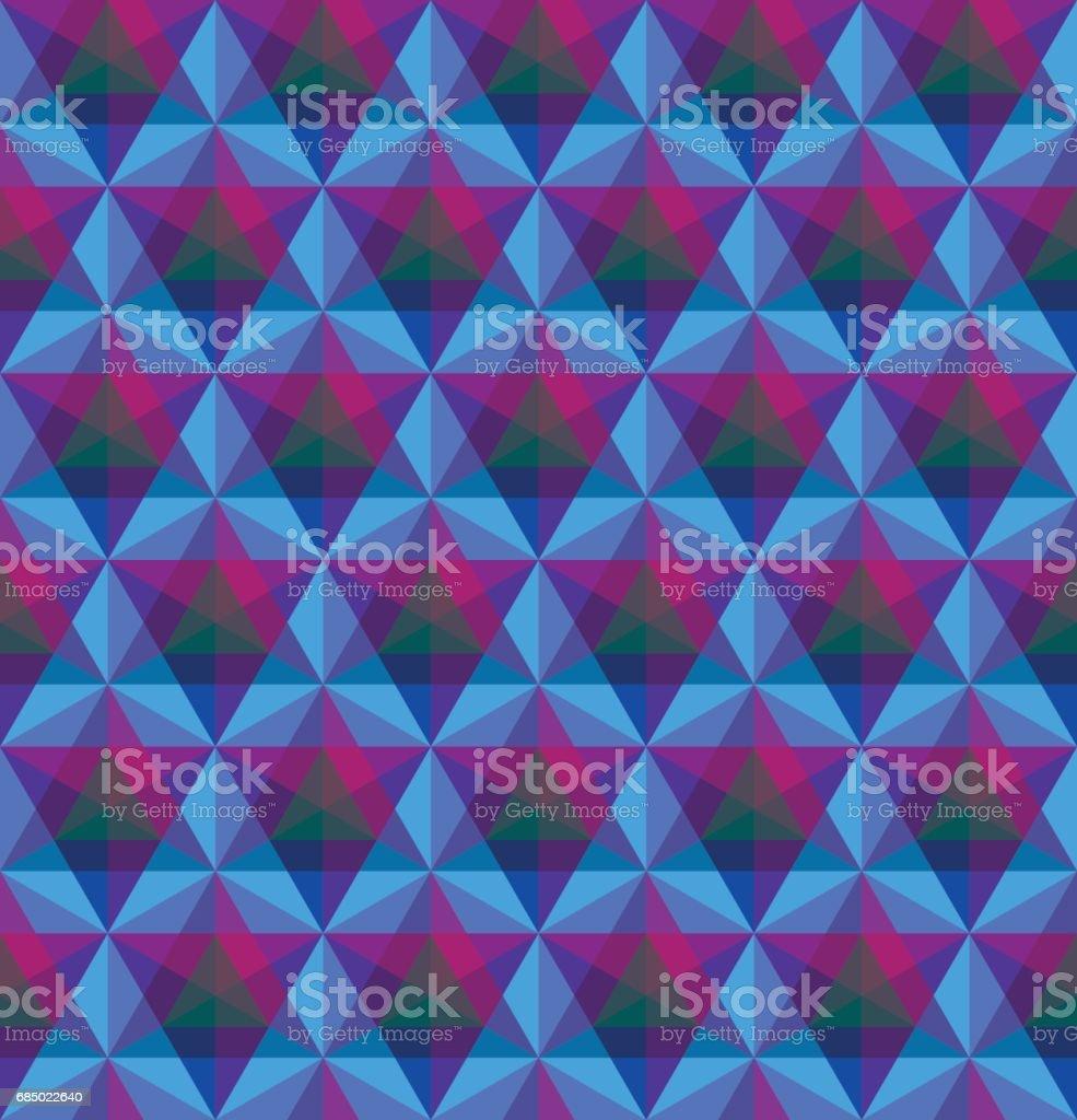 Triangular geometric seamless pattern vector art illustration