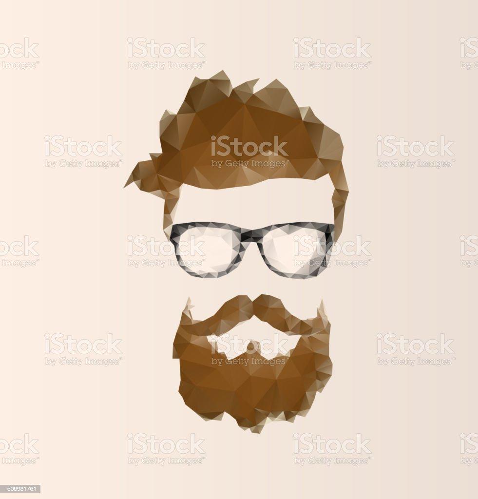 triangular icon hipster vector art illustration