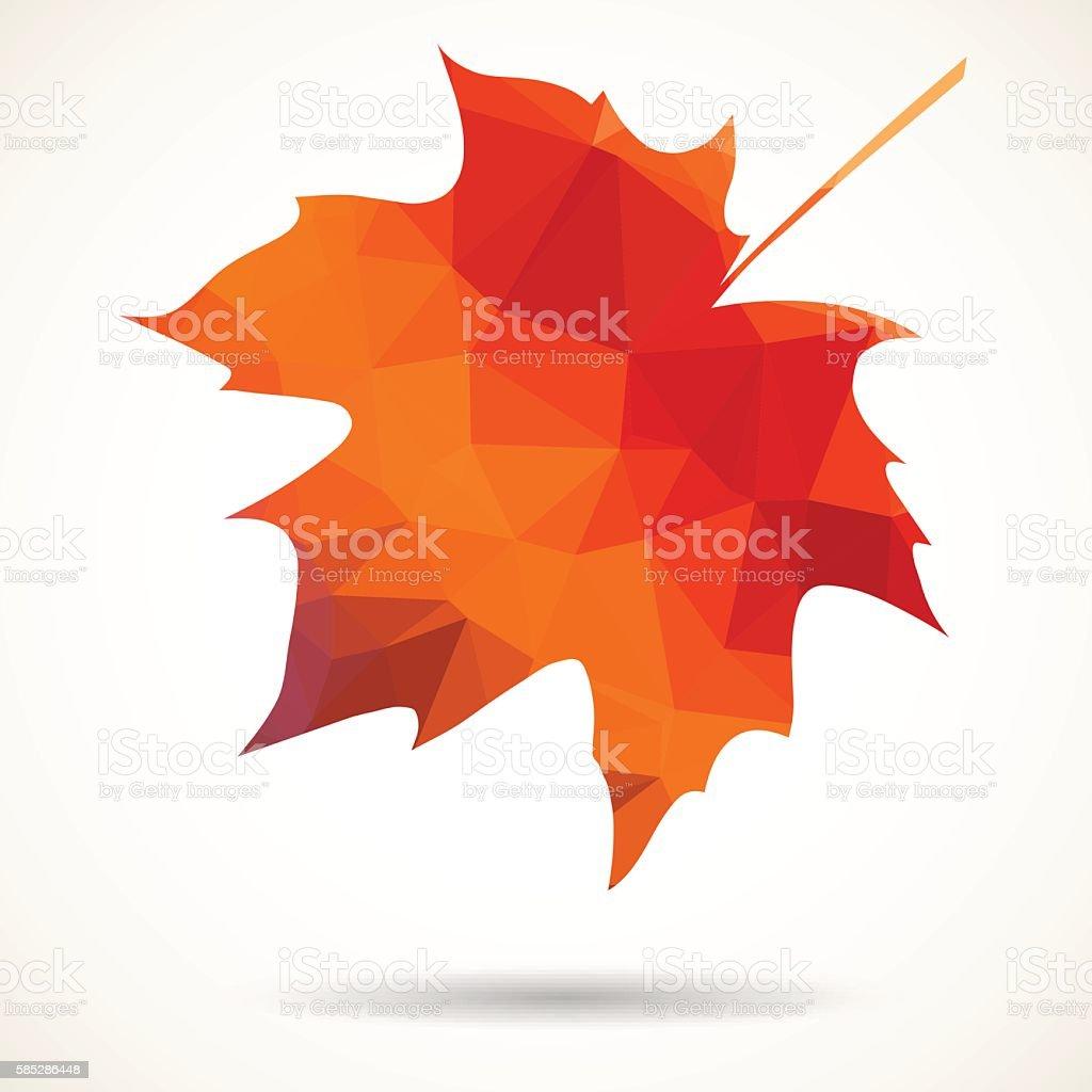 Triangular maple leaf vector art illustration