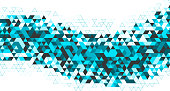 triangular designs decoration pattern wave background
