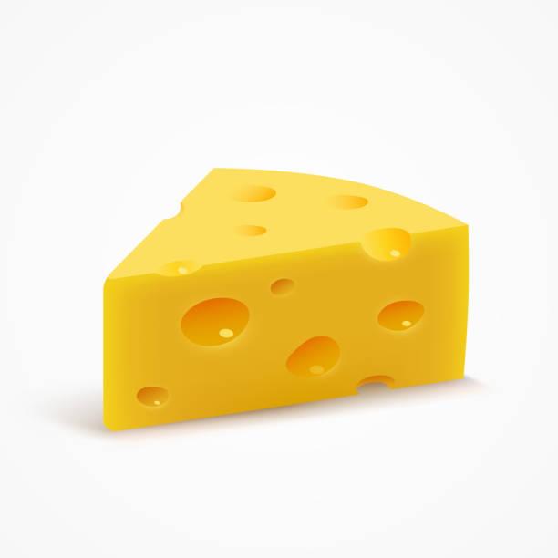 ilustrações de stock, clip art, desenhos animados e ícones de triangular piece of cheese. - queijo