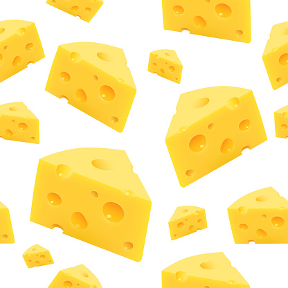 Triangular piece of cheese. Vector