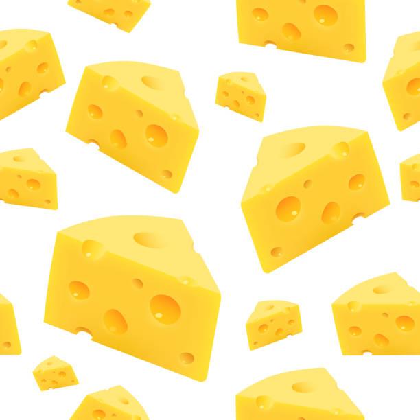 ilustrações de stock, clip art, desenhos animados e ícones de triangular piece of cheese. vector - queijo