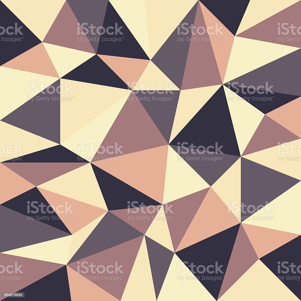 triangular retro background vector art illustration