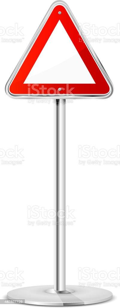 Triangular road sign vector art illustration
