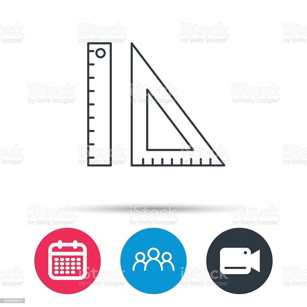 三角定規アイコンをクリックしますstraightedge します まっすぐの