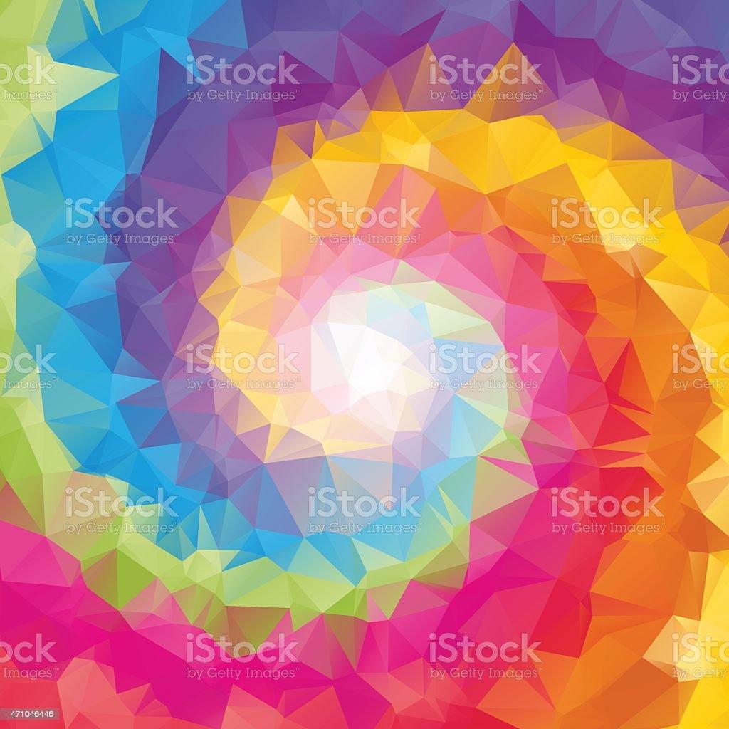 triangular tornado color background vector art illustration