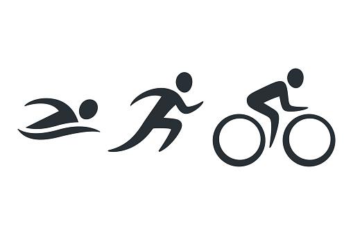 Triathlon activity icons