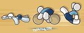 Triathlon sportsman. Sport icon.