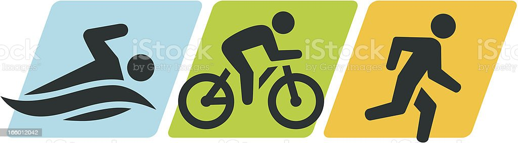 Triathlon Symbol royalty-free stock vector art