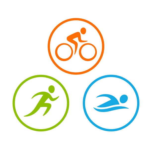Royalty Free Triathlon Clip Art Vector Images Illustrations Istock