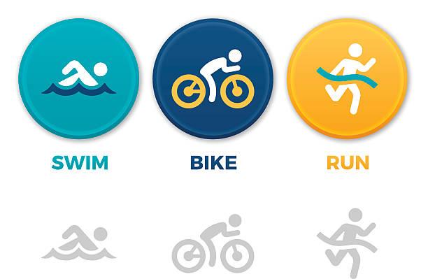 トライアスロンのシンボル - 水泳点のイラスト素材/クリップアート素材/マンガ素材/アイコン素材
