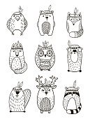 Tribal Animal collection - Illustration