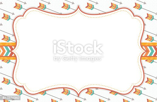 tribal arrow background frame stock vector art 617574342