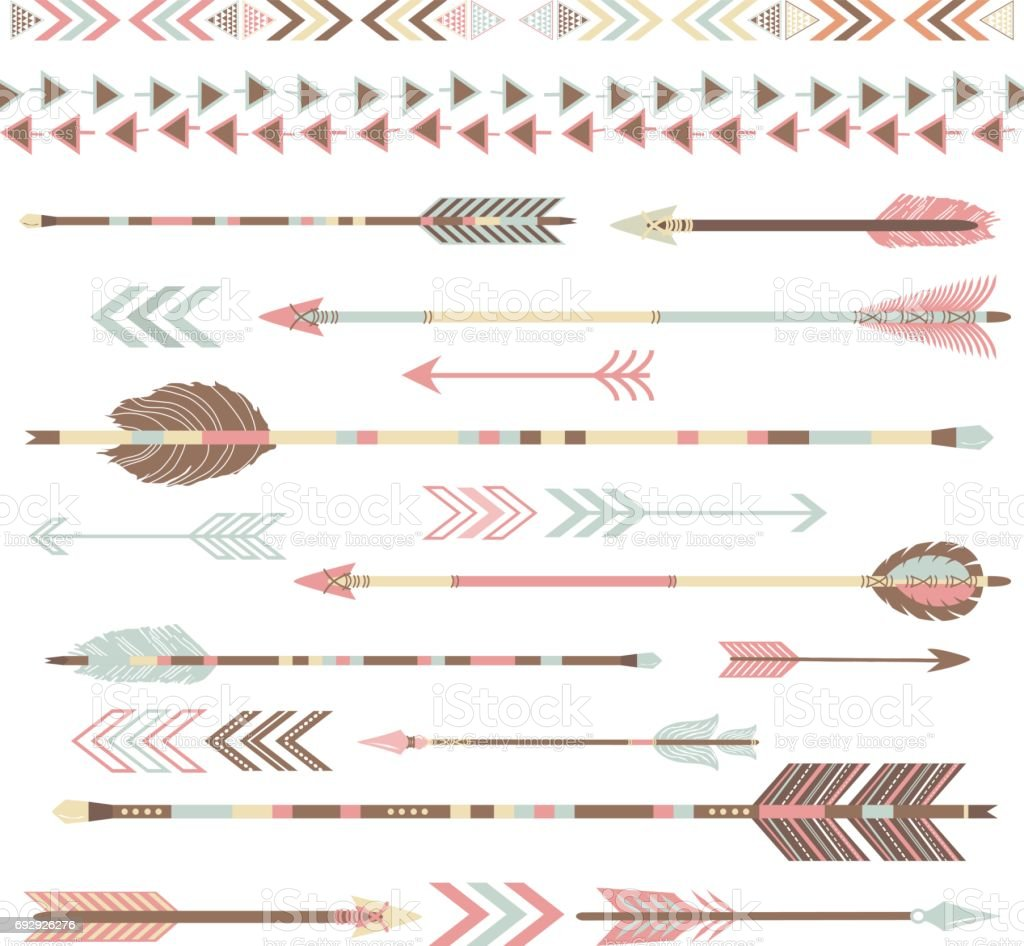 Tribal Arrow Collections vector art illustration