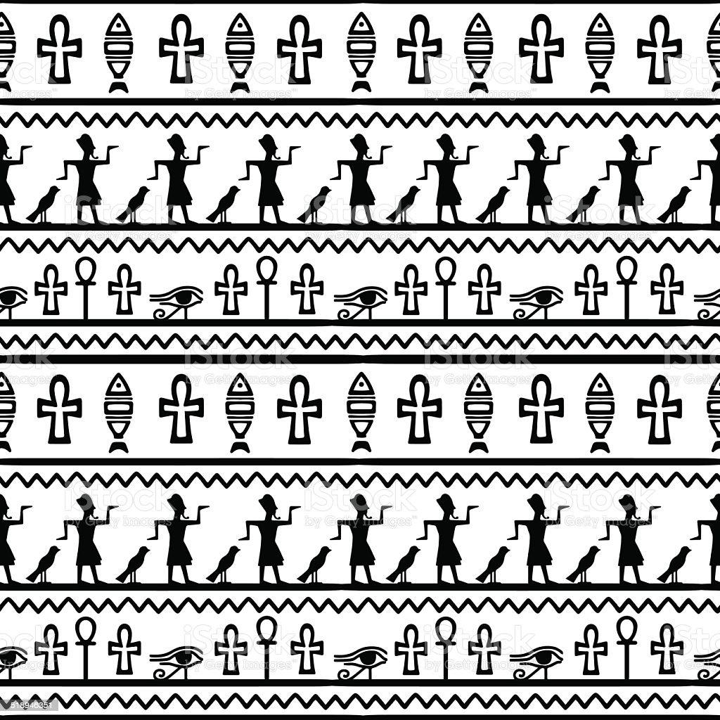 Ilustración de Arte Tribal Estilo Vintage Patrón Sin Costuras étnico ...