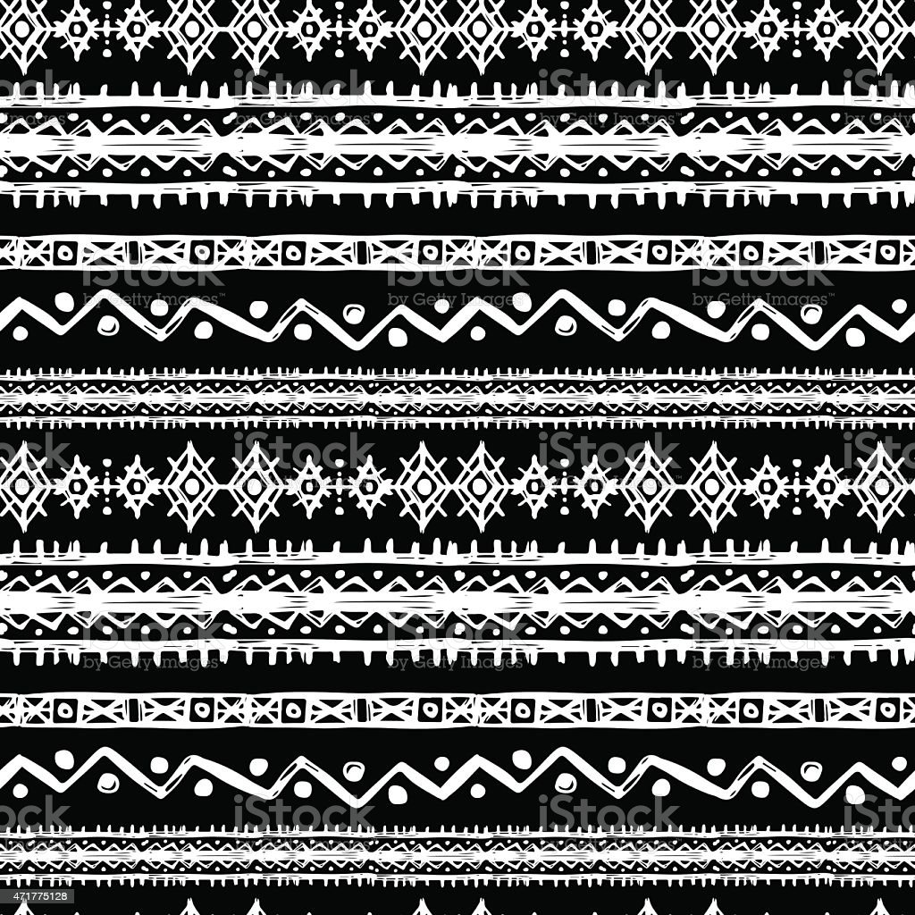 Tribal art ethnic seamless pattern royalty-free tribal art ethnic seamless pattern stock illustration - download image now