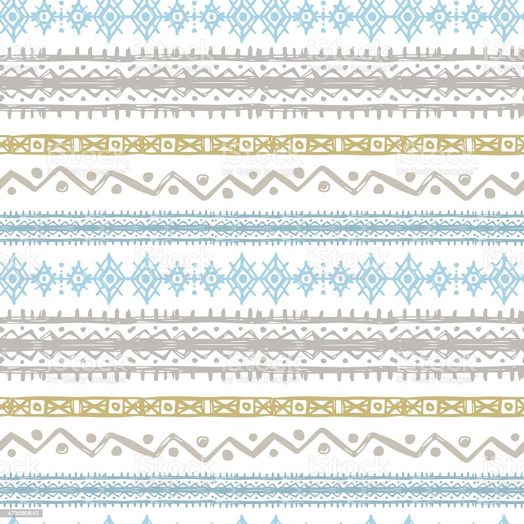 Tribal art ethnic seamless pattern vector art illustration