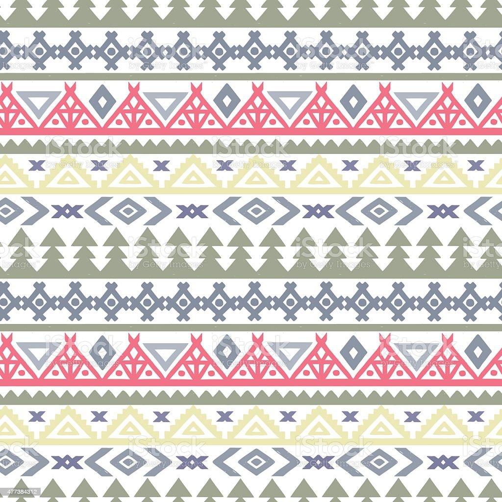 Tribal art ethnic seamless pattern vector art illustration