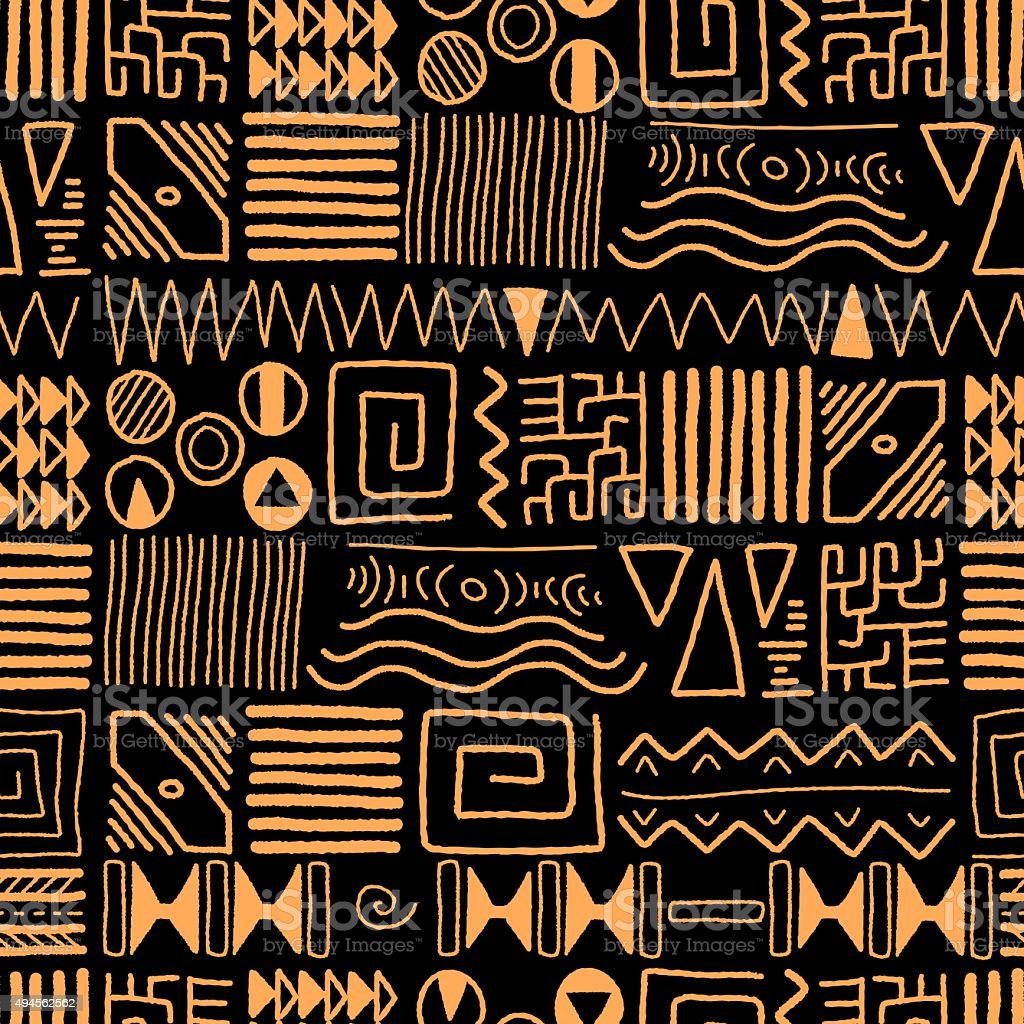 Tribal art vector art illustration
