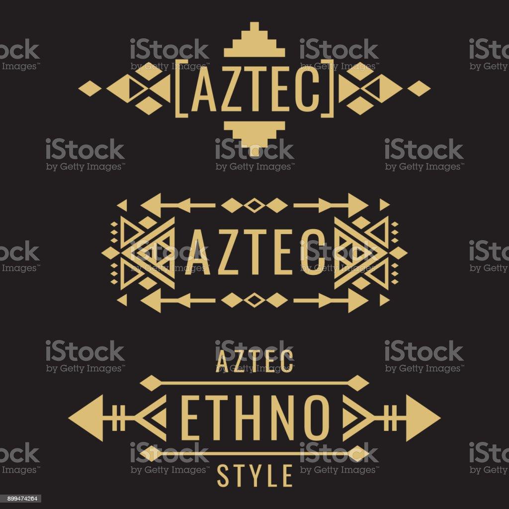 Tribal aztec mexican vector ornaments