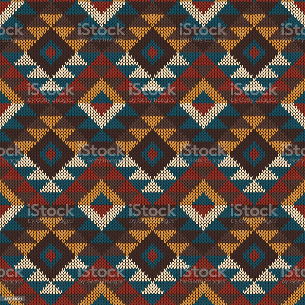 Tribal Aztec Seamless Pattern On The Wool Knitted Texture stock ...