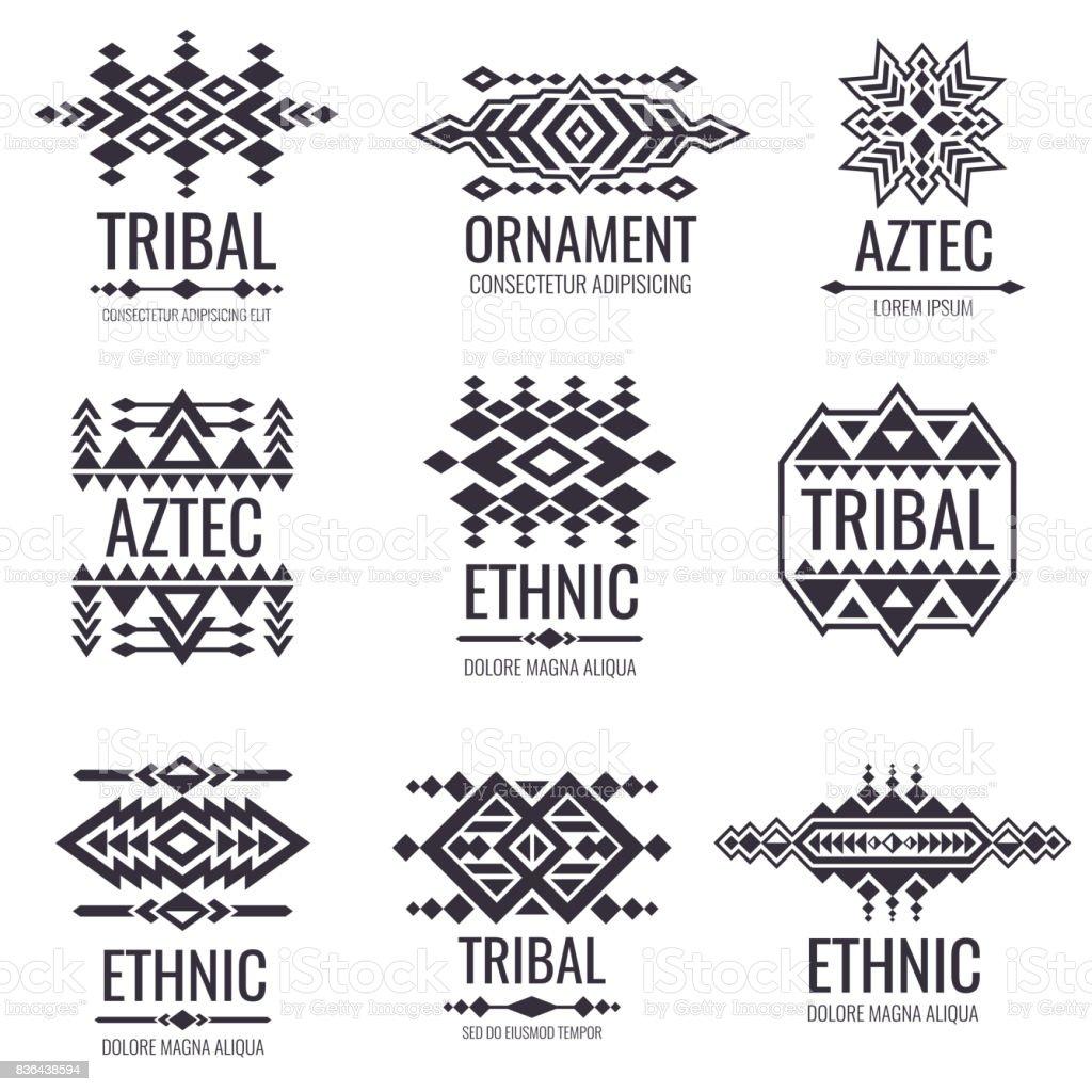 Motif Tribal Vecteur Azteque Graphismes Indiens Pour Les Conceptions