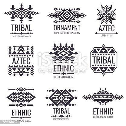 Ilustración de Patrón De Vector Azteca Tribal India Gráficos Para ...