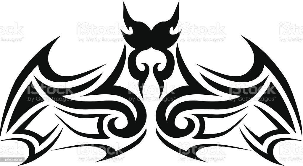 Tribal bat royalty-free stock vector art