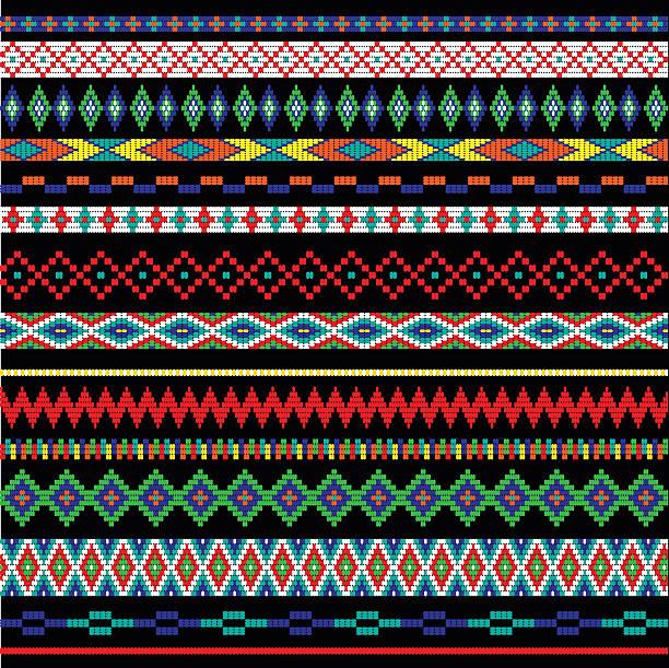 tribal bead stripes tribal bead stripes border patterns bead stock illustrations