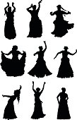 Tribal Belly Dancer Silhouettes