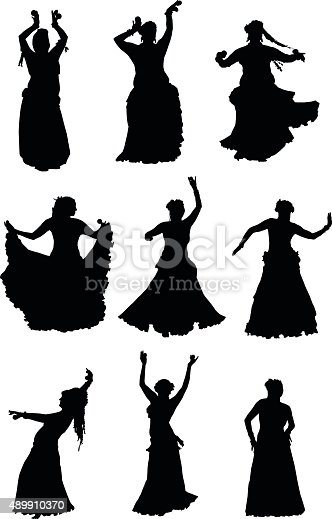 belly dancer silhouette tribal belly dancer silhouettes stock vector art more 7724
