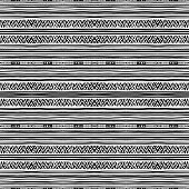 tribal black and white pattern