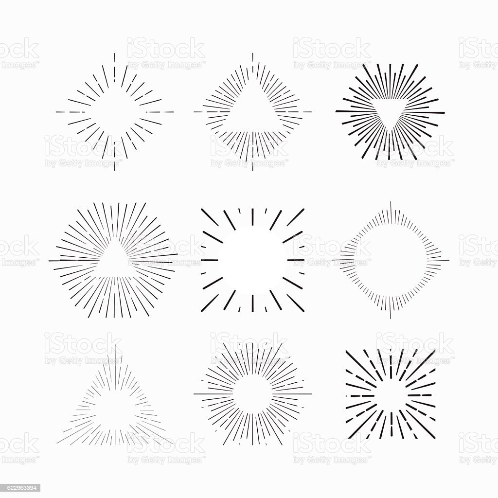 Tribal boho frames with place for your text. Firework bursts vector art illustration