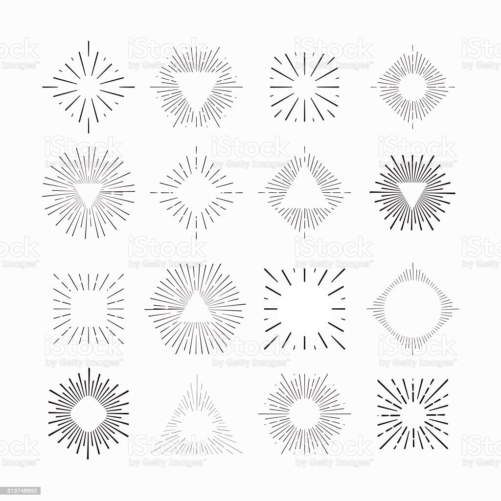 Tribal boho style frames. place for your text. Hipster Starburst. vector art illustration