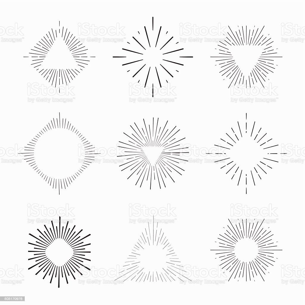 boho stylu Tribal ramki z miejscem na tekst – artystyczna grafika wektorowa