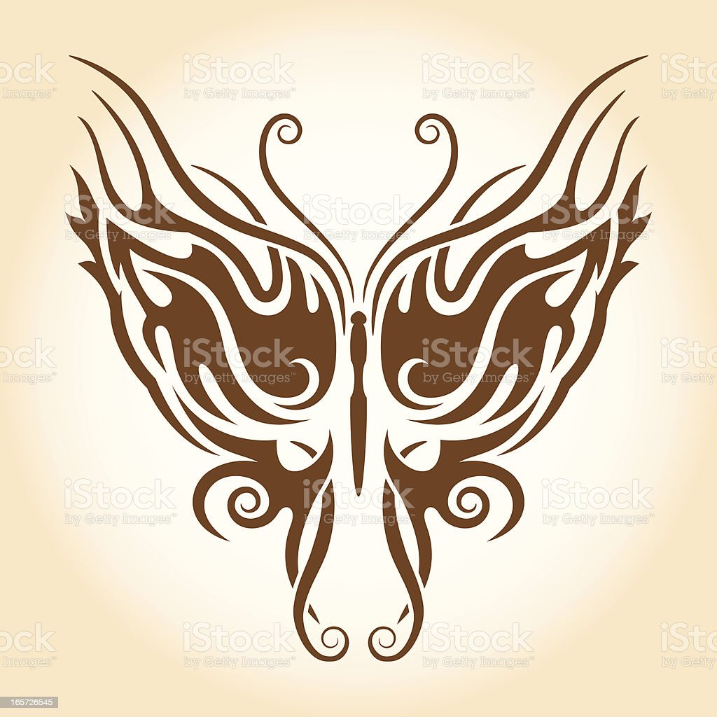 Tribal Butterfly Tattoo royalty-free stock vector art