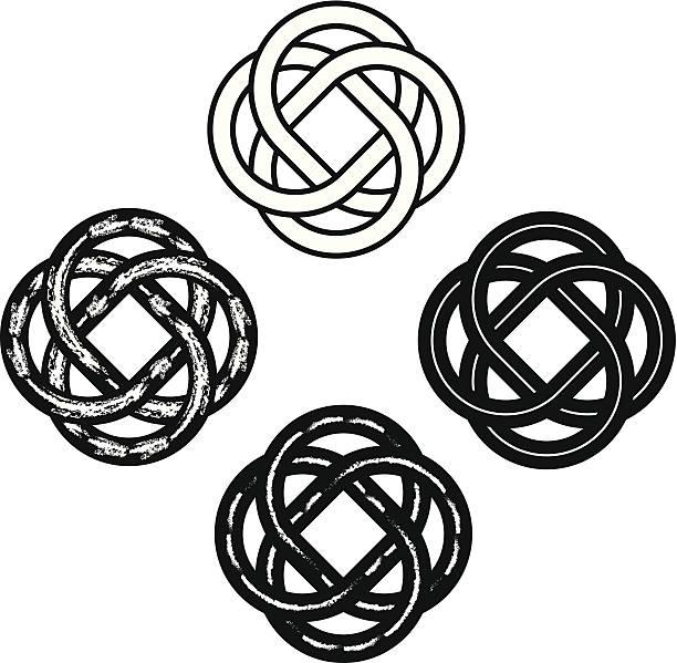 Tribal Celtic Knots vector art illustration