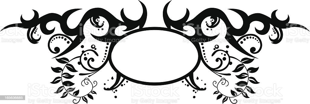 Stock Illustration Volleyball Tribal Abstract Vector: Tribal Crest Oval Stock Vector Art & More Images Of