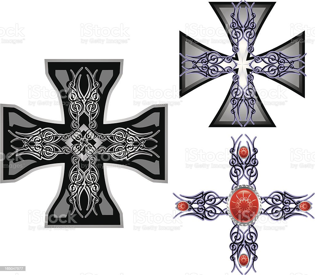 tribal crosses royalty-free stock vector art