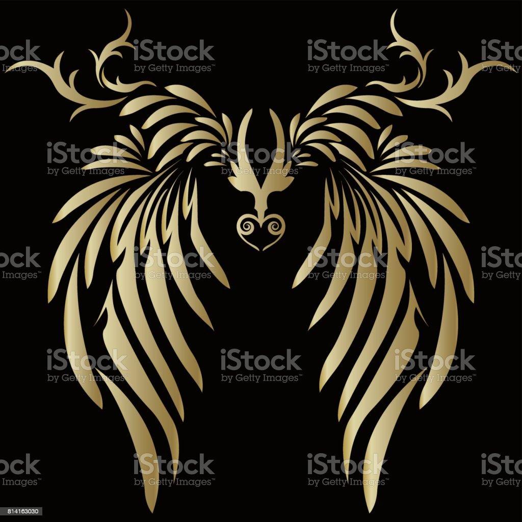 tatouage croix avec des aile