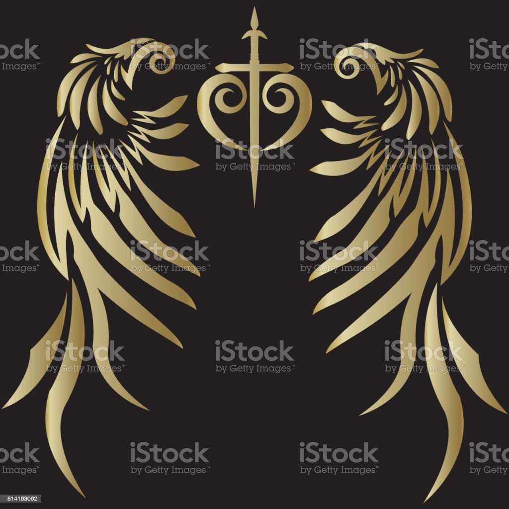tribal design angel wing