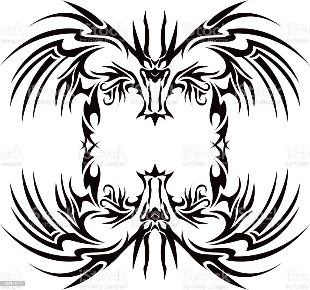 e513f09f2 tribal dragon royalty-free tribal dragon stock vector art & more images  of abstract