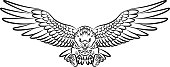 Vector illustration of Tribal eagle on white background